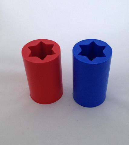 Силиконовые формы для свечей 11 см 2 шт