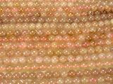 Нить бусин из кварца клубничного, шар гладкий 6мм