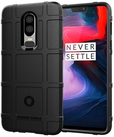 Чехол OnePlus 6 цвет Black (черный), серия Armor, Caseport
