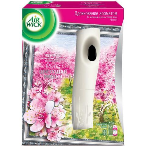 Автоматический освежитель воздуха Air Wick Pure + сменный баллон Цветущая вишня 250 мл