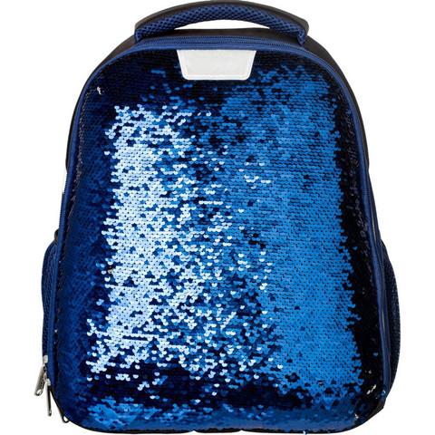 Ранец ортопедический №1 School Sparkle Blue (пайетки двусторонние)