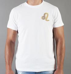 Футболка с принтом Знаки Зодиака, Лев (Гороскоп, horoscope) белая 0049