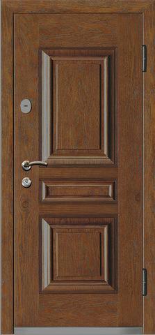 Дверь входная Monte Bello 382 стальная, орех, 2 замка