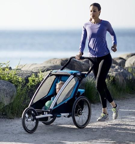 Картинка коляска Thule Chariot Sport1 голубая