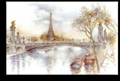 "Постер ""Париж красками"""