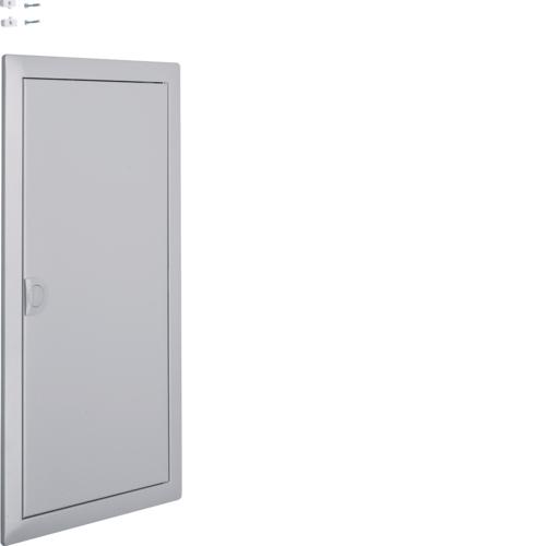 Наружная рамка с дверцей для встраиваемого щитка Volta,3-рядного, RAL9006, серебряный металлик