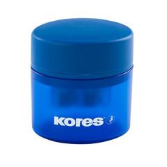 Точилка Kores двойная с контейнером, цвет ассорти ?35800