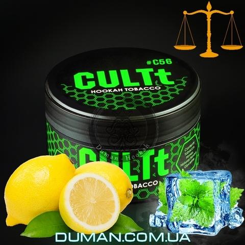 Табак CULTt C56 Lemon Mint Ice (Культ Лед Лимон Мята)  На вес 25г