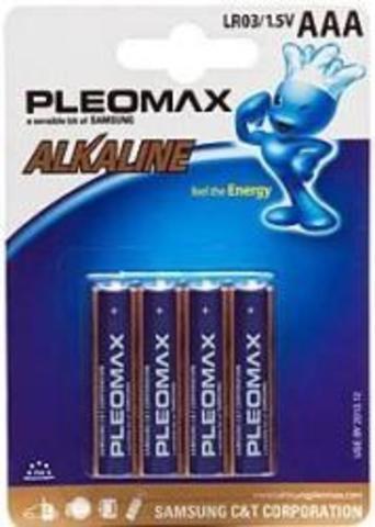 Батарейки Pleomax Alkaline LR03, AAA (4/48) BL