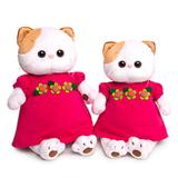 Кошечка Ли-Ли в малиновом платье с цветочками - купить подружку Басика в интернет магазине