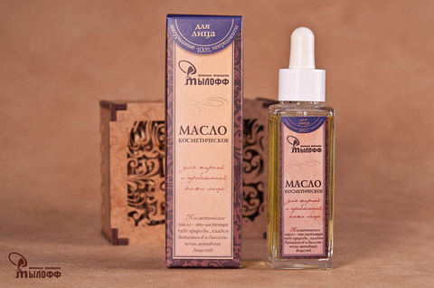 Масло косметическое Для жирной и проблемной кожи лица с эфирными маслами, экстрактом ромашки и витамином Е, 50 мл, ТМ Мылофф