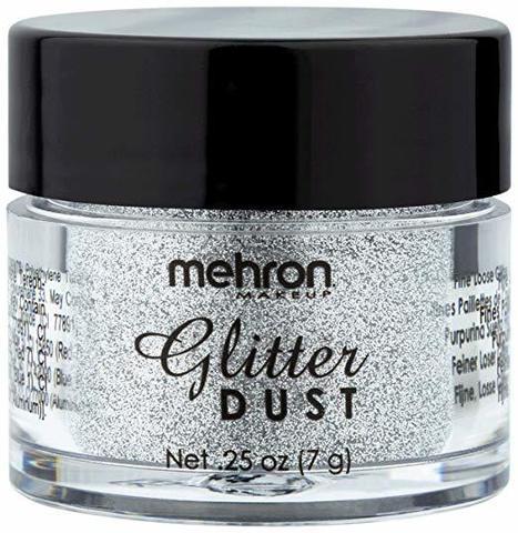 MEHRON Рассыпчатые блестки Glitter Dust, Real Silver (Настоящее серебро), 7 г