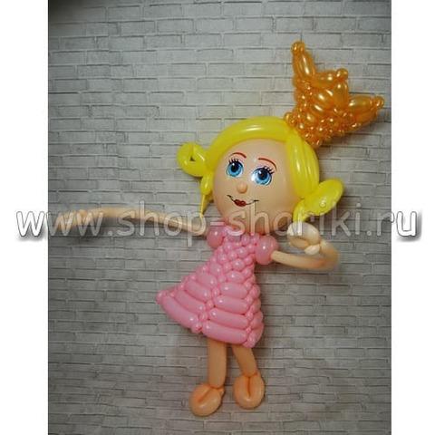 Маленькая принцесса из шаров с короной