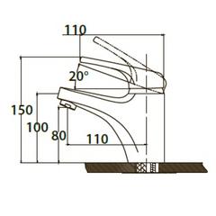Комплект для ванной Kaiser County 5500К (55011+55022+стойка R1100) схема 2