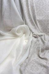 Льняная вуаль цвет МОЛОЧНЫЙ