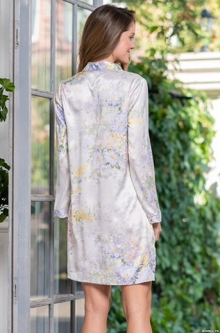 Рубашка халат на пуговицах MIA-Amore  Lilianna Лилианна 3257