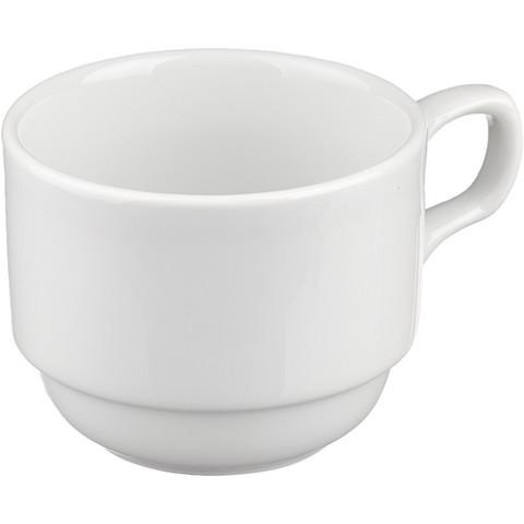 Чашка чайная Башкирский фарфор Браво белая 250 мл (артикул производителя ИЧШ 30.250)