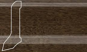 Плинтус шпон. La San Marco Profili Дуб Кофе 2500*60*22