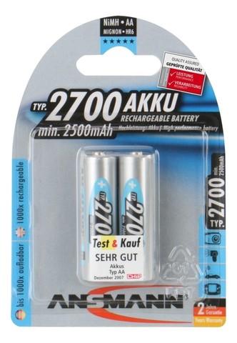 Аккумулятор АА/NiMH ANSMANN 1.2V 2700mAh