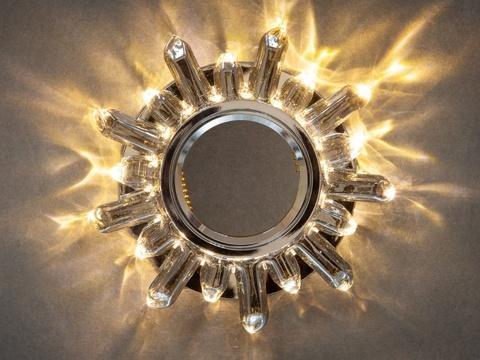 Светильник встраеваемый 8113-3W-CPH Шампань+Диодная подсветка