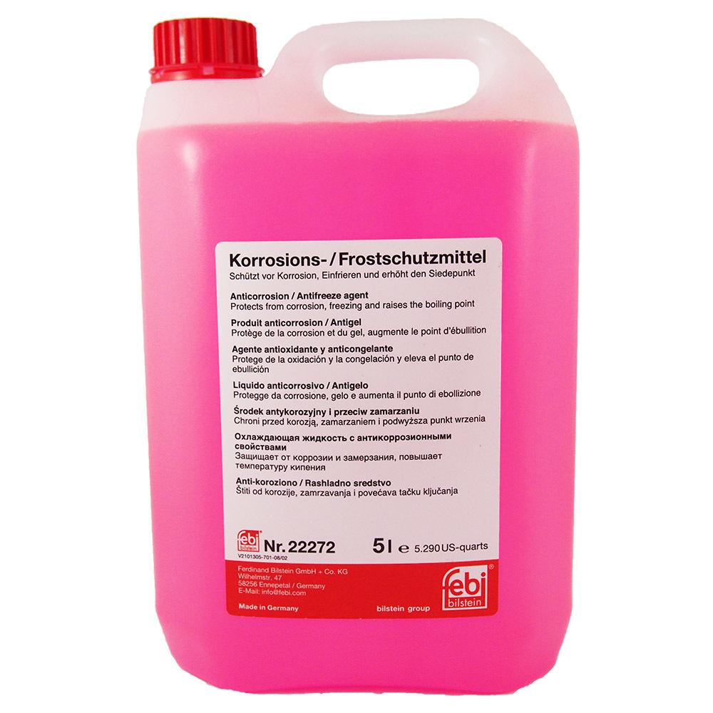 FEBI Korrosions-Frostschutzmittel G12 (5л) - Готовый антифриз (розовый)