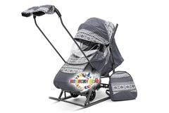 Санки коляска PIKATE Скандинавия «Серый»