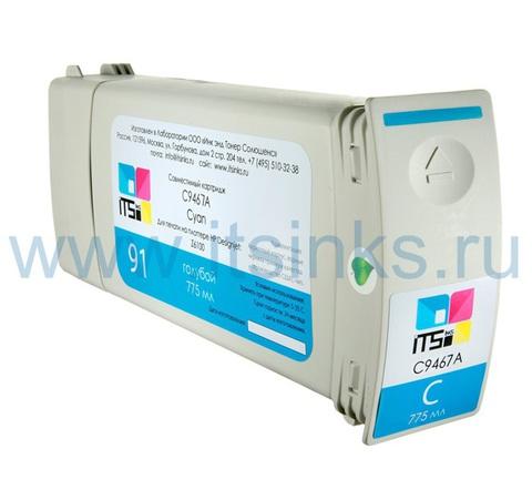 Картридж для HP 91 (C9467A) Cyan 775 мл