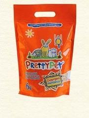 Наполнитель для грызунов и птиц древесный с морковными чипсами 6 л, PrettyCat