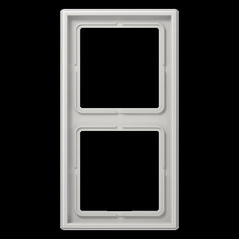 Рамка на 2 поста. Цвет Светло серый. JUNG LS 990. LS982LG