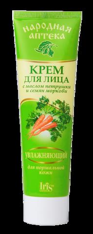 Iris Народная аптека Крем для лица для нормальной кожи с маслом петрушки и семян моркови 100мл