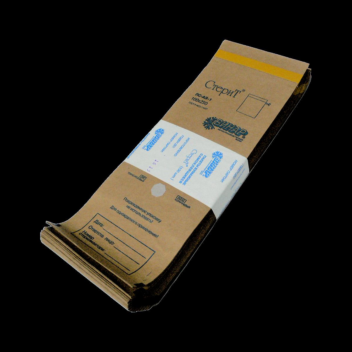 Крафт-пакеты 75х150, самоклеящиеся с индикатором для паровой и газовой стерилизации (Сухожар) (2,89 руб/шт)