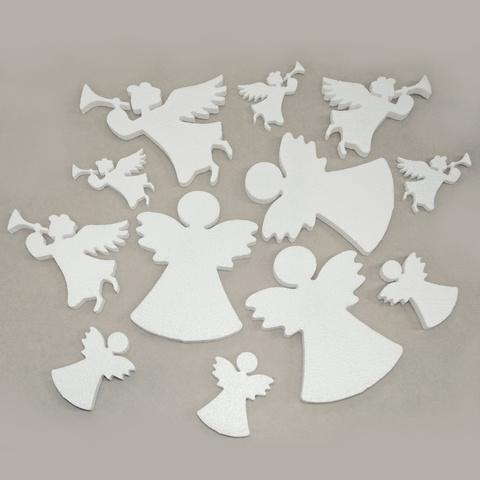 Большой набор ангелов из пенопласта