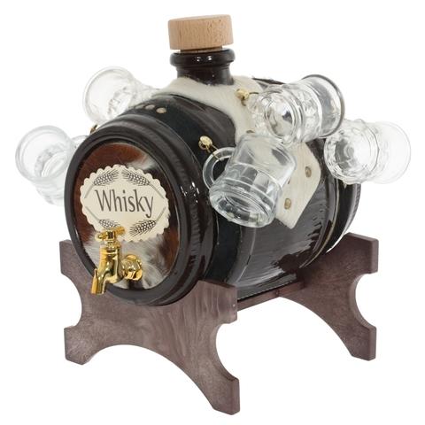 Диспенсер для напитков «Whisky» с рюмками, 2 л