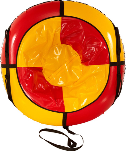 Санки-ватрушка SnowDream Classic Maxi 100 красно-желтая