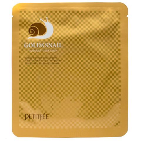 Гидрогелевая маска с золотом и экстрактом улитки PETITFEE Gold & Snail hydrogel mask pack