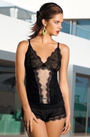 Комплект с шортами  кружевной  MIA-MIA Elegance ЭЛЕГАНС 2008