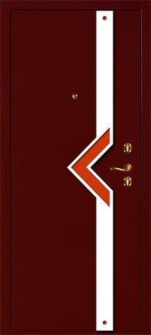 Дверь входная Армада Астра стальная, светлое дерево, 2 замка