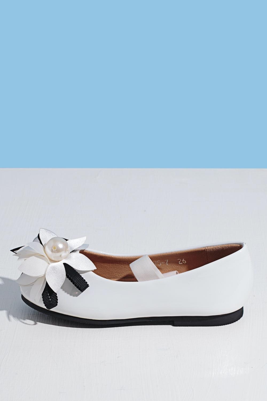 Туфли белые для девочки 203-9025-1
