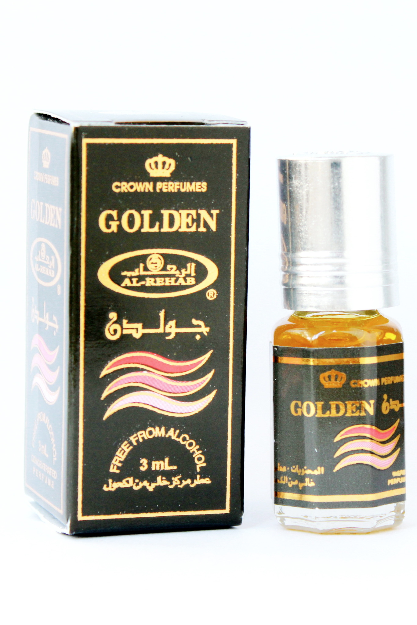 Golden Золотой 3 мл арабские мужские мужские масляные духи от Аль Рехаб Al Rehab