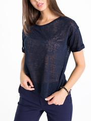 GKT006625 блузка женская, темно-синяя