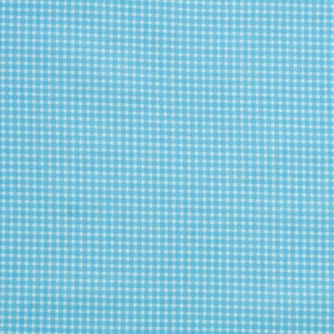 Ткань хлопковая голубая клетка, отрез 50*80 см