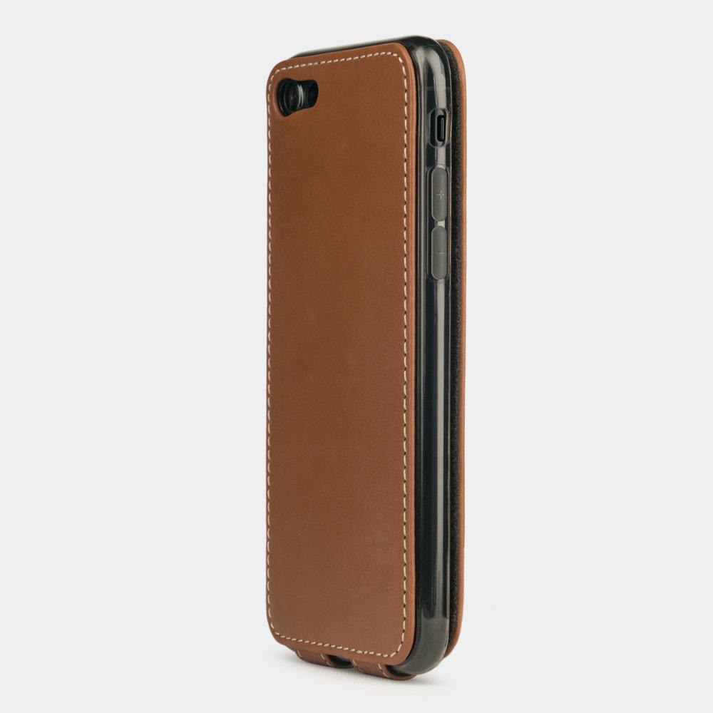 Чехол для iPhone 8/SE из натуральной кожи теленка, коричневого цвета