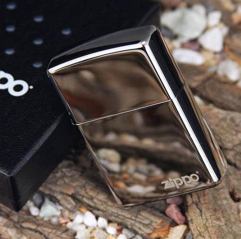 Зажигалка Zippo №150ZL* с покрытием Black Ice, латунь/сталь, чёрная с фирменным логотипом