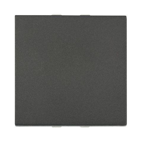 Выключатель 45х45 мм 16 A, 250 В~ 2 модуля (схема 1). Цвет Чёрный бархат. LK Studio LK45 (ЛК Студио ЛК45). 850708