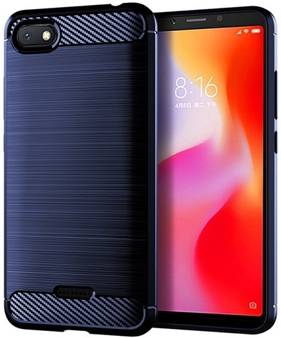 Чехол Xiaomi Redmi 6A цвет Blue (синий), серия Carbon, Caseport