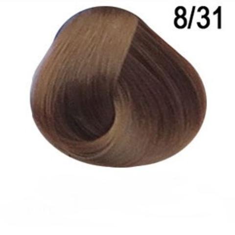 Перманентная крем краска для волос Ollin 8/03 светло русый золотисто пепельный