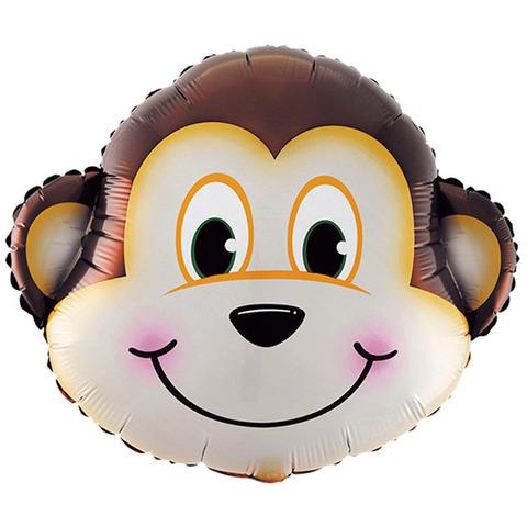 Фольгированный шар «Голова Мартышки», 86 см.