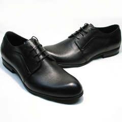Классические туфли мужские кожаные черные Ikoc 060-1 ClassicBlack.