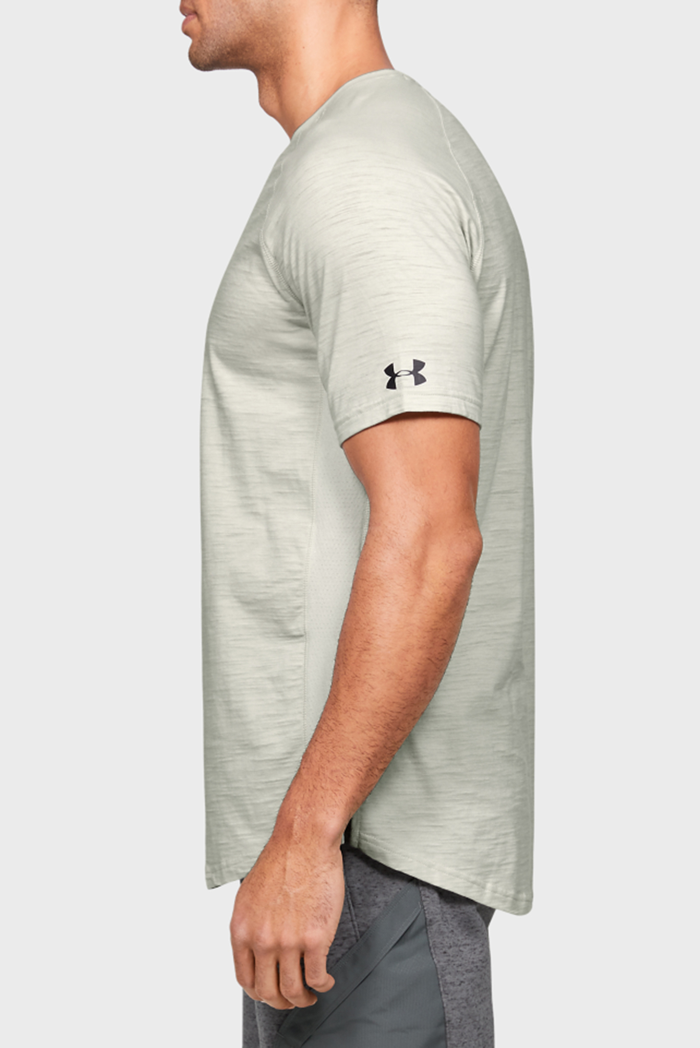 Мужская бежевая футболка Project Rock Charged Cotton SS Under Armour