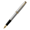 Parker Sonnet Core - Stainless Steel GT, перьевая ручка, F, BL